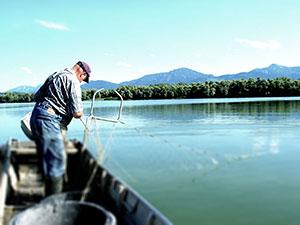 Fischen auf einem See